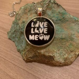 3/$25 Live Live Meow pendant with chain
